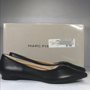 Marc Fisher Shoes - [188] Marc Fisher 5.5 M Pointed-Toe Flats - Black